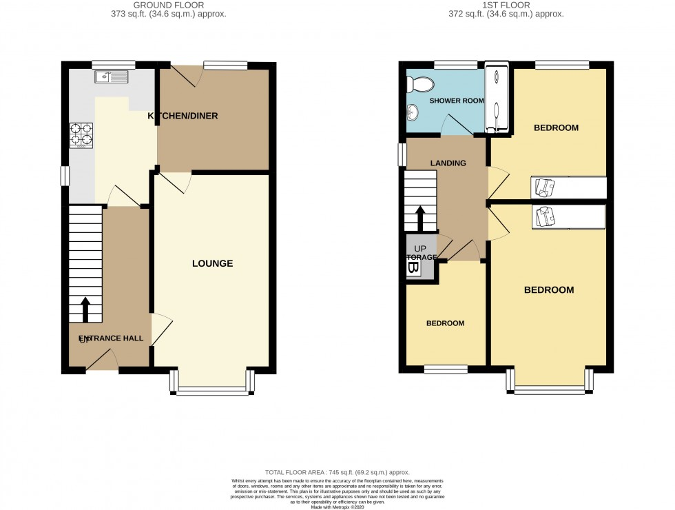 Floorplan for Five Locks Close, Pontnewydd, Cwmbran