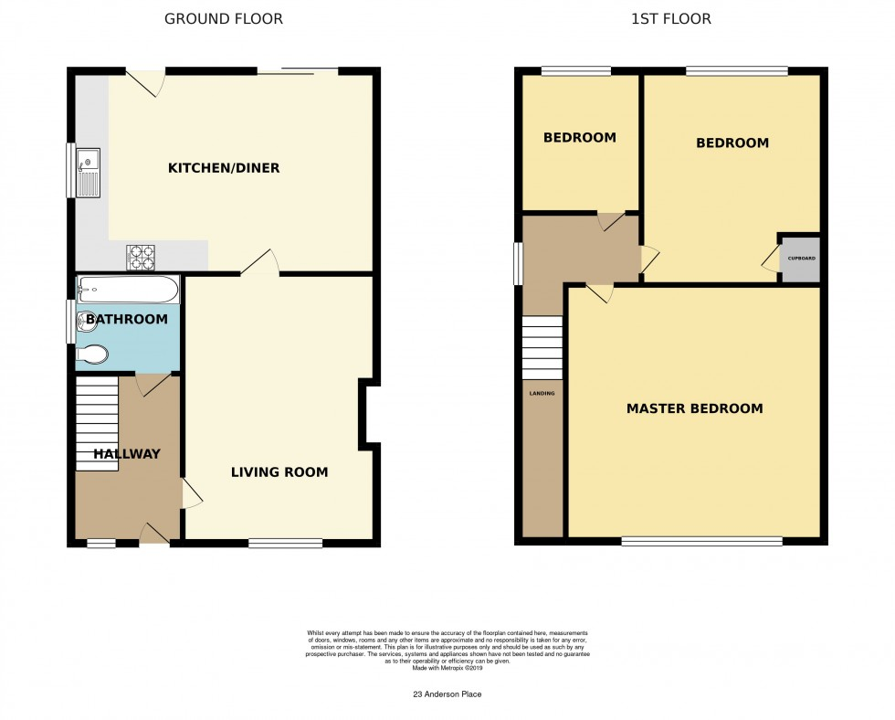 Floorplan for Anderson Place, Malpas, Newport