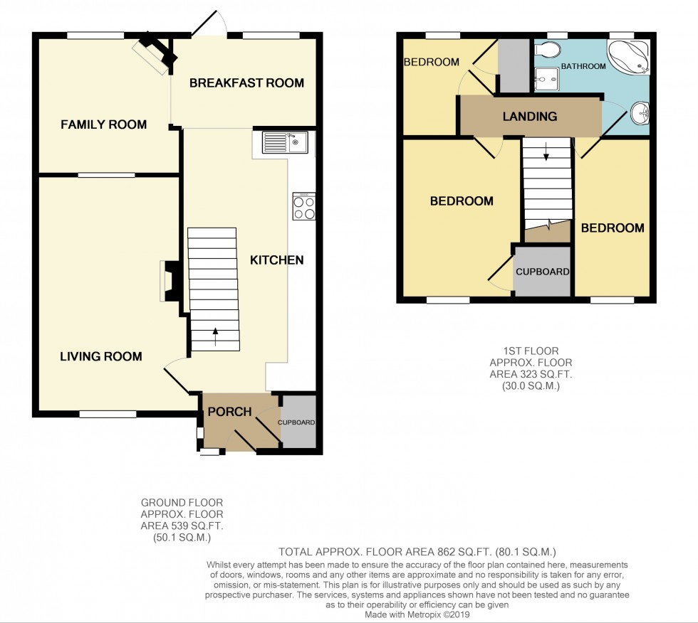 Floorplan for Fields View Road, Croesyceiliog, Cwmbran