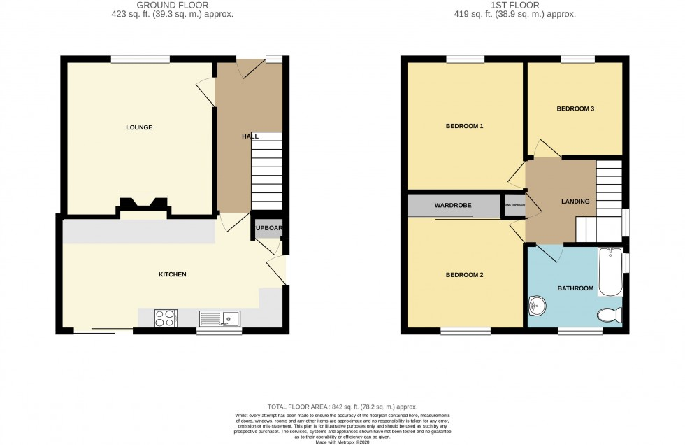 Floorplan for Elm Drive Ty Sign, Risca, Newport
