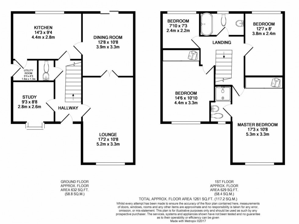 Floorplan for Barkers Mead, Yate, South Glos